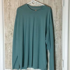 Tommy Bahama Sea Green Long Sleeve Tee SZ XXL EUC